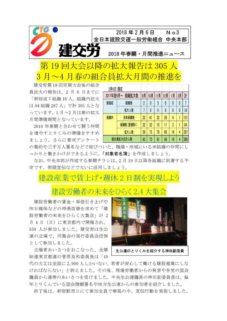 春闘・月間推進ニュース No.3