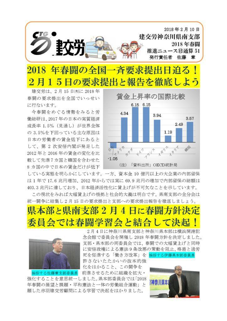 神奈川県南支部推進ニュース 通算51号