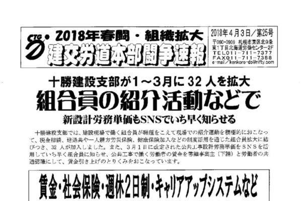 北海道本部春闘闘争速報 No.25