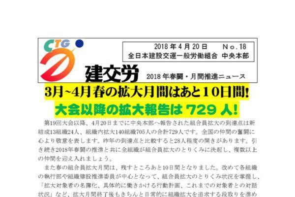 春闘・月間推進ニュース No.18