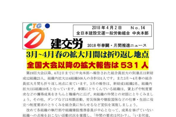 春闘・月間推進ニュース No.14