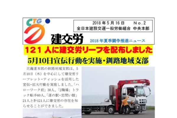 夏季闘争推進ニュース No.2