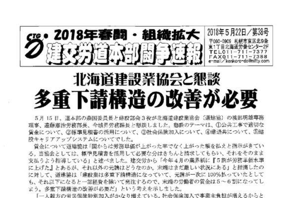北海道本部春闘闘争速報 No.38