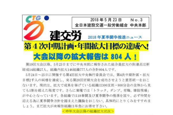 夏季闘争推進ニュース No.3