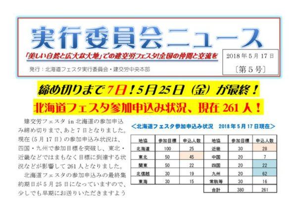建交労フェスタin北海道ニュースNo.5