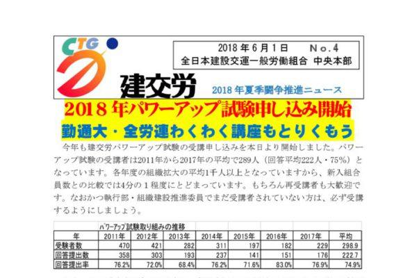 夏季闘争推進ニュース No.4