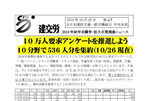 秋季闘争推進ニュース No.7