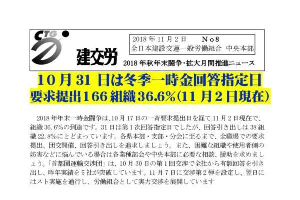 秋季闘争推進ニュース No.8