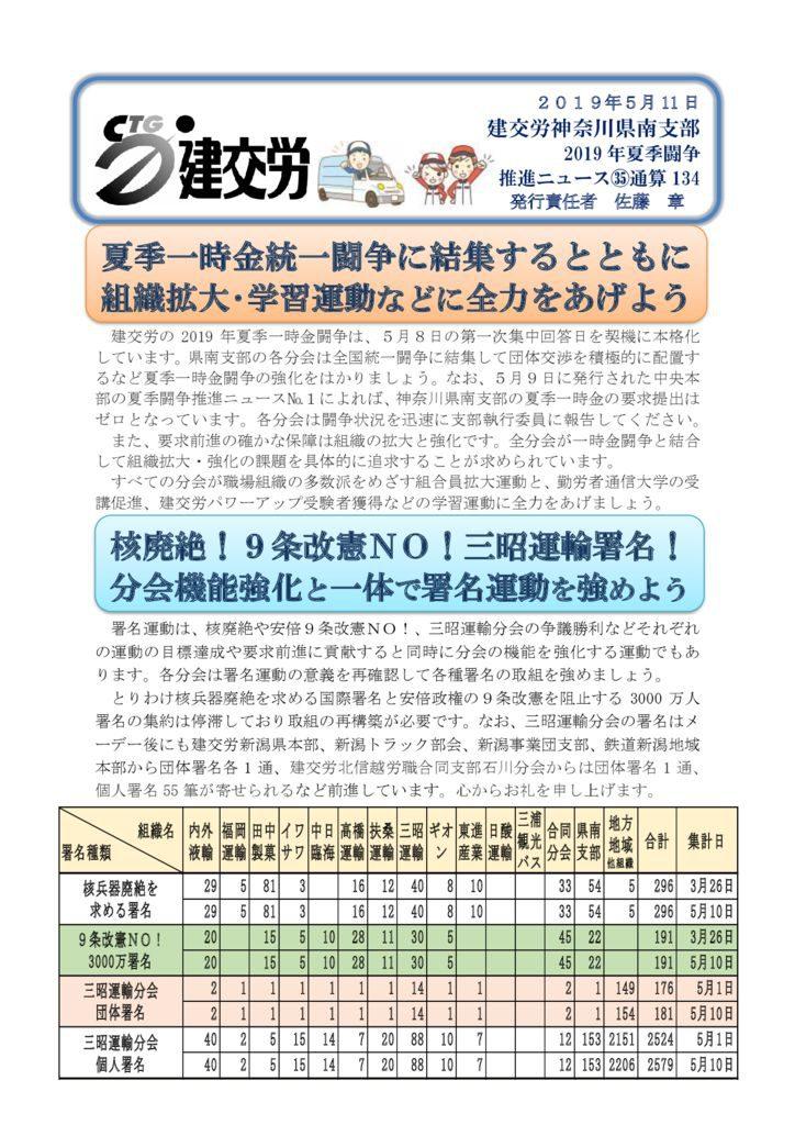 神奈川県南支部推進ニュース 通算134号