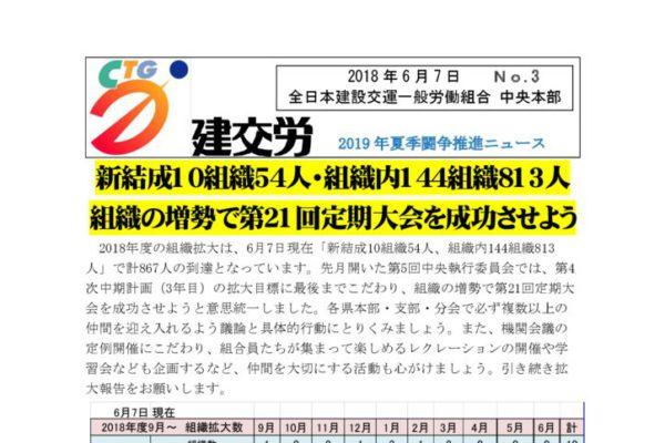 2019年夏季闘争推進ニュース No.3
