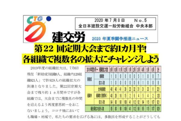 2020年夏季闘争推進ニュース No.5