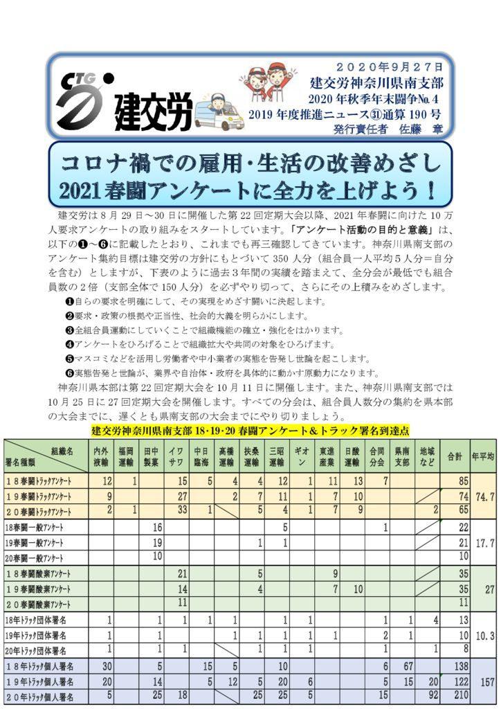 神奈川県南支部推進ニュース 通算190号
