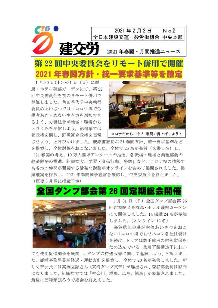 2021年春闘・月間推進ニュース No.2