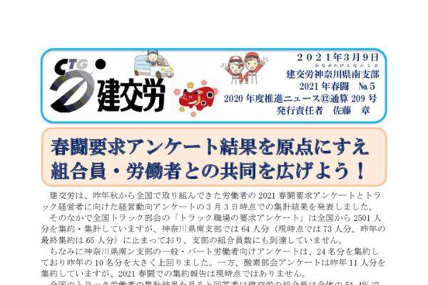 神奈川県南支部推進ニュース 通算209号