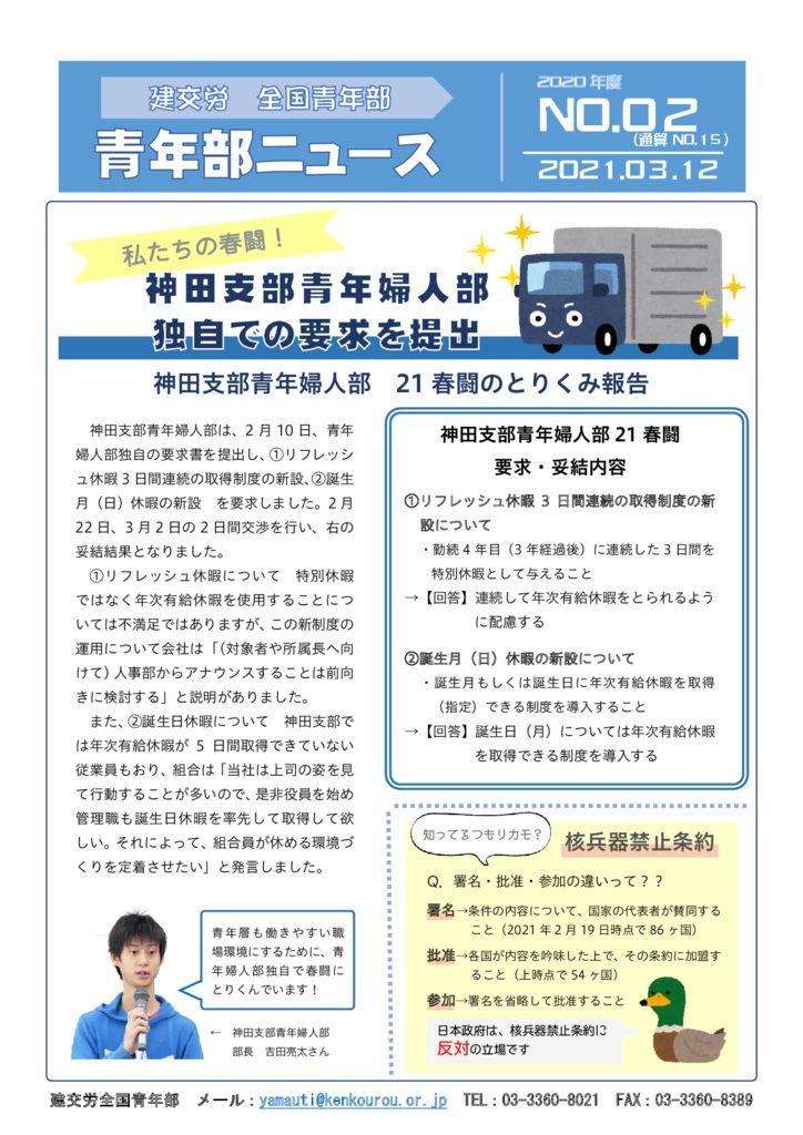 青年部ニュース 通算No.15