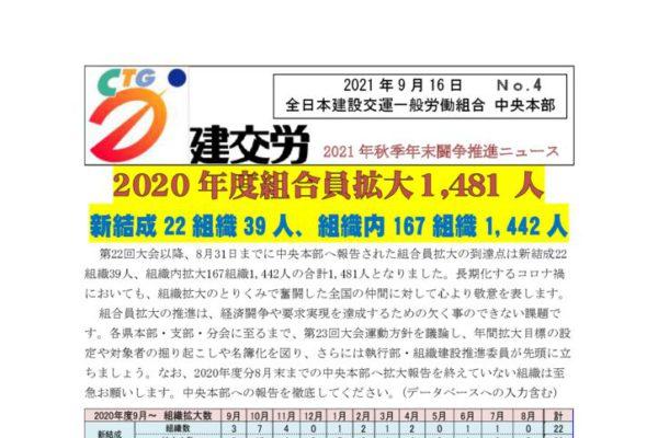 2021年秋年末闘争推進ニュース No.4